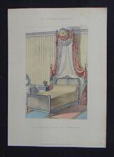 LA TENTURE FRANÇAISE 1905 - Lit de bout Louis XVI - décoration tapisserie 101