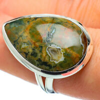 Rainforest Jasper 925 Sterling Silver Ring Size 8 Ana Co Jewelry R32437