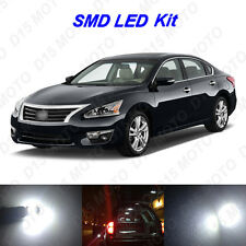 15 x White LED Interior Bulbs + License Plate Lights for 2007-2016 Nissan Altima