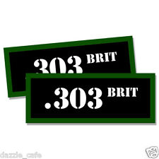 """303 BRIT Ammo Can 2x Labels Ammunition Case 3""""x1.15"""" stickers decals 2 pack"""