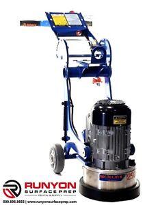 New! Meteor 250 G3 Concrete Floor Grinder Floorex 110 Volt Great Deal!