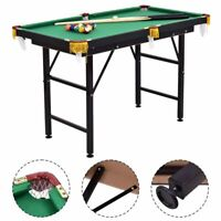 """47"""" Pool Table Billiard Table Toys Game Set w 2 Cue Triangle Rack Ball and Chalk"""