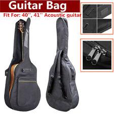 "2017 40"" 41"" Nylon Padded Acoustic Guitar Soft Case Gig Bag Backpack Black US"
