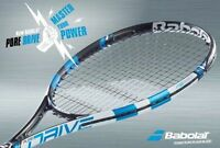 BABOLAT PURE DRIVE 2015 TENNIS RACKET + FREE DAMPENER & FULL COVER UK 48 HR POST