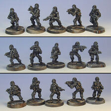 Armorcast 28mm Pewter TAC001 5 Man S.W.A.T. Team - New Modern Mobocracy Minis
