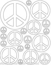 38 WHITE PEACE SIGN VINYL KIDS BEDROOM DECAL STICKER Teen Kids Boy Girl Room