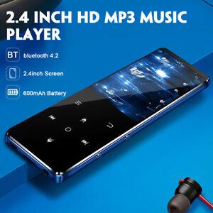 2.4'' 4/8/16GB bluetooth MP3 Player Portable HIFI Ultrathin Mini MP