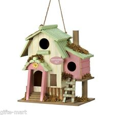 Pink princess hummingbird hut Wood fairy garden Bird house decorative birdhouse