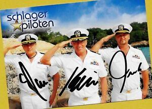 Die SCHLAGERPILOTEN (1) AK-Bild Groß-Format - 21cmx15cm + 5 SCHLAGER AK signiert