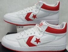 New Mens 12 Converse Fast Break 83 MID White Casino Red Shoes $85 155651C