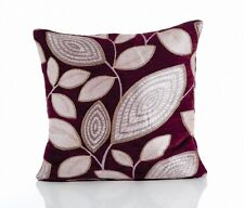 Chenille London Leaf Chenille Cushion Covers,Double Side 6 Great Colours 2 Sizes