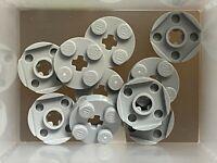 10 x lego 4032 Plate round Axle Grey round Flat 2x2 cross Hole New New