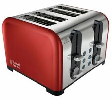 Brand New Russell Hobbs Westminster 4 Slice Toaster - Red, 3 Years Warranty