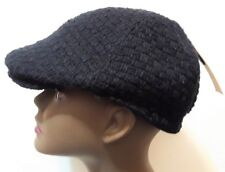 S Black Mens Newsboy Cabbie Visor Hat Cap Driving Women Solid NEW
