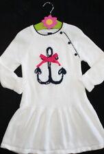 Baby Gap Ivory Nautical Anchor Long Sleeve Sweater Dress Girl Size 4