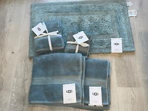 UGG Pasha Succulent blue Towel & Rug Bath Set ⭐️