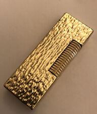 Dunhill Gold Bark Rollagas Lighter - Fully Overhauled