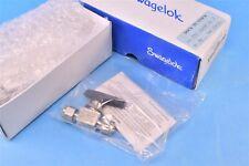 Swagelok Stainless Steel Ball Valve 0.6 Cv 1/4 in Tube Fitting Cleaned SS-42GS4