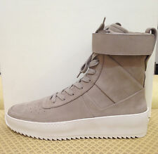 AUTHENTIC FEAR OF GOD MILITARY GREY NUBUCK SNEAKERS YEEZY SUPREME EU 44