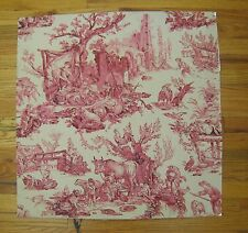 Antique Rare & Beautiful 19th C. French Scenic Toile Wallpaper  (2002)