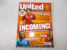 Manchester United Magazine Issue #181 August 2007 Hargreaves Nani Anderson