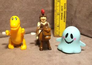 Wind up Toys Lot- Ghost, Dinosaur, and Trojan Soldier on Horse