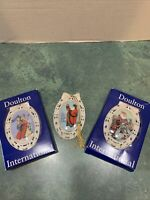 Lot Of 3 Doulton International Victorian Whimsies Christmas Ornaments 2 Orig.Box