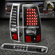 BLACK CLEAR FULL LED TAIL+3RD BRAKE&CARGO LIGHT FOR 03-07 CHEVY SILVERADO/SIERRA