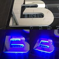 Yacht Boat Vessel Name Letters Custom Made LED Illuminate Marine Grade Stainless