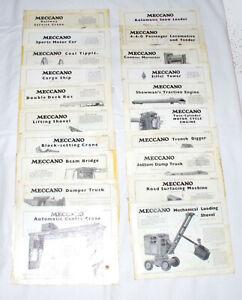 20x Meccano Set 10 Model Leaflets