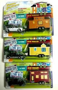 UPick! Johnny Lightning Tiny Houses Dodge Ram Silverado Ford F-250 Truck Trailer
