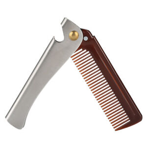 Portable Folding Stainless Steel Combs For Men Oil Head Beard Combs Xmas Gift