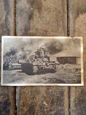 RARE ORIGINAL German Empire WWII, Battle Picture Postcard / Advancing Tank Unit