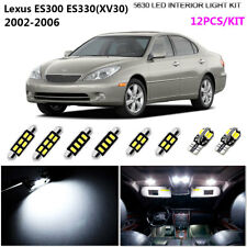 12Pcs Cool White 6K Interior Light Kit LED For 2002-2006 Lexus ES300 ES330(XV30)