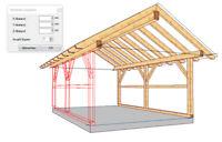 LigniKon XL V14 -3D-CAD Holzbausoftware für den Abbund (30-Tage-Testversion)