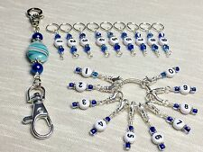 0-99 Row Counting Stitch Markers & Matching Holder- Markers Piggyback For 0-99