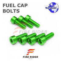 FRW Green Fuel Cap Bolts Set For Kawasaki Ninja 300R 13-16 13 14 15 16