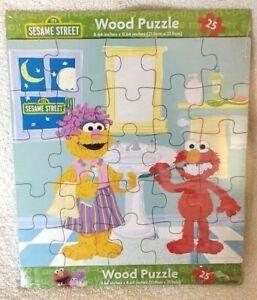Sesame Street Wood Puzzle 25 Piece Elmo Teeth Brushing Educational Toy