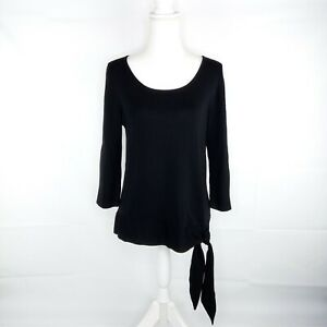 Coldwater Creek Pullover Sweater Women Size L Black