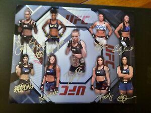 Rose Namajunas Autograph Signed 11x14 Multi Signed UFC Custom Tracy Cortez ++++