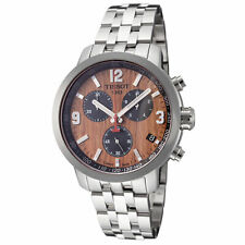 Tissot Men's T0554171129701 PRC 200 42mm Brown Dial Stainless Steel Watch