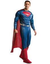 "Batman v Superman Mens Delux Superman Costume,Std,CHEST 44"",WAIST 30-34"",LEG 33"""