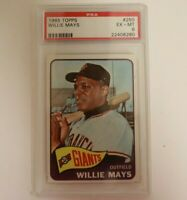 1965 Topps #250 Willie Mays PSA 6 EX-MT San Francisco Giants