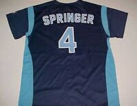 George Springer #4 Corpus Christi Hooks Double-A Citgo Blue Promotion Jersey L