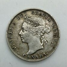 Canada 1892 Silver 25 Cents Victoria Nice  Original Better Grade Sharp Devices