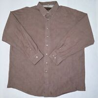Ariat Pro Series Mens 2XL Brown Check Long Sleeve Button Down Shirt