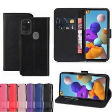 Genuine Leather Wallet Case For Samsung Galaxy A01 A11 A21s A41 A51 Flip Cover