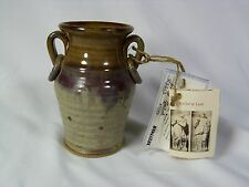 NC Seagrove Nichols Pottery ~RACHEL & LEAH URN POTTERY VASE~*Handmade* 5 1/2''