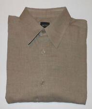 HUGO BOSS TAN L/S FINE COTTON DRESS SHIRT. HB3105