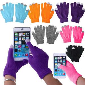 1Pair Adult Winter Warm Gloves Touch Screen Sports Stretch Men Ladies Women